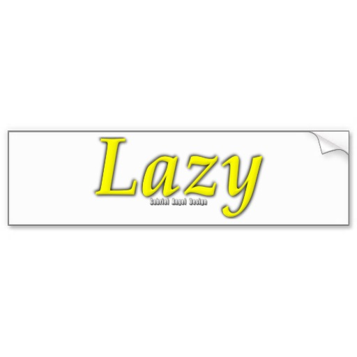 Lazy Logo Bumper Sticker