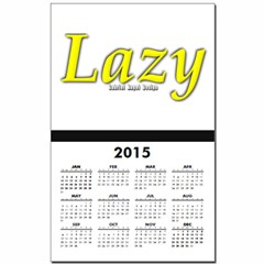 Lazy Logo Calendar Print