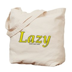 Lazy Logo Canvas Tote Bag