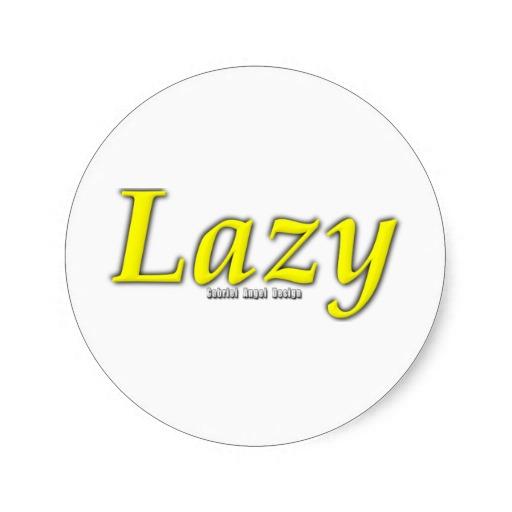 Lazy Logo Classic Round Sticker