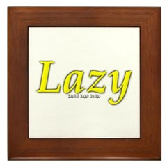 Lazy Logo Framed Tile