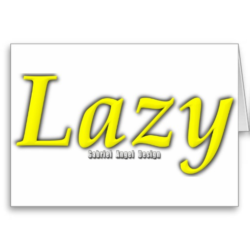 Lazy Logo Greeting Card