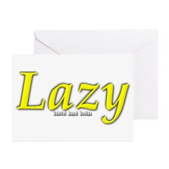Lazy Logo Greeting Cards (Pk of 20)