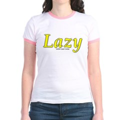 Lazy Logo Junior Ringer T-Shirt