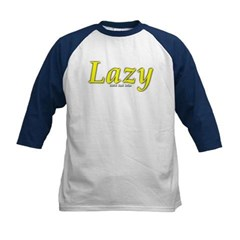 Lazy Logo Kids Baseball Jersey T-Shirt