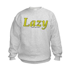Lazy Logo Kids Crewneck Sweatshirt by Hanes