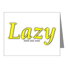Lazy Logo Note Cards (Pk of 20)