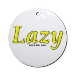 Lazy Logo Ornament (Round)