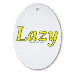 Lazy Logo Oval Ornament