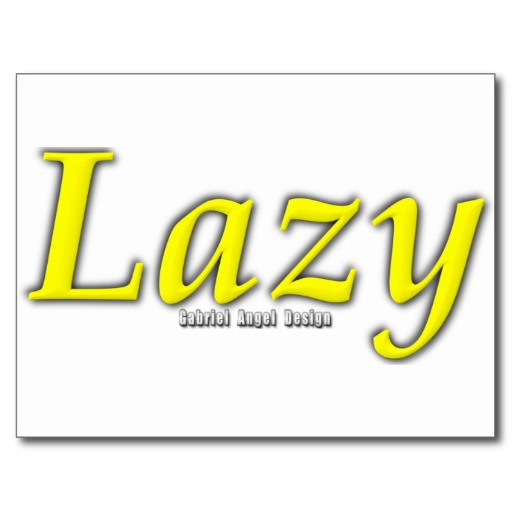 Lazy Logo Postcard