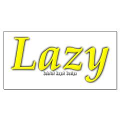 Lazy Logo Posters