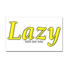 Lazy Logo Rectangle Decal