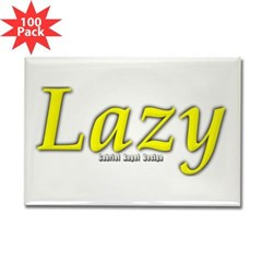 Lazy Logo Rectangle Magnet (100 pack)