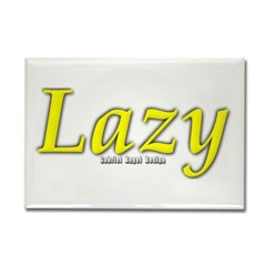 Lazy Logo Rectangle Magnet