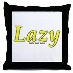 Lazy Logo Throw Pillow