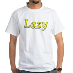 Lazy Logo White T-Shirt