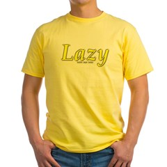 Lazy Logo Yellow T-Shirt