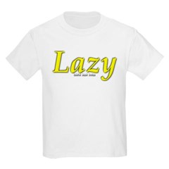 Lazy Logo Youth T-Shirt by Hanes