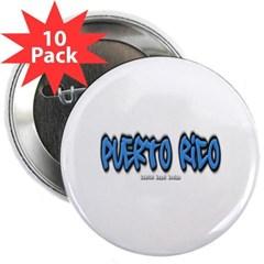 "Puerto Rico Graffiti 2.25"" Button (10 pack)"