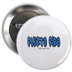 """Puerto Rico Graffiti 2.25"""" Button"""
