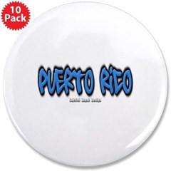 "Puerto Rico Graffiti 3.5"" Button (10 pack)"