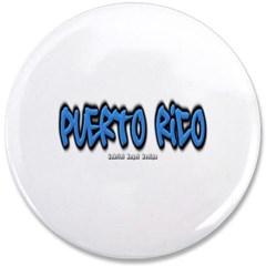 """Puerto Rico Graffiti 3.5"""" Button"""
