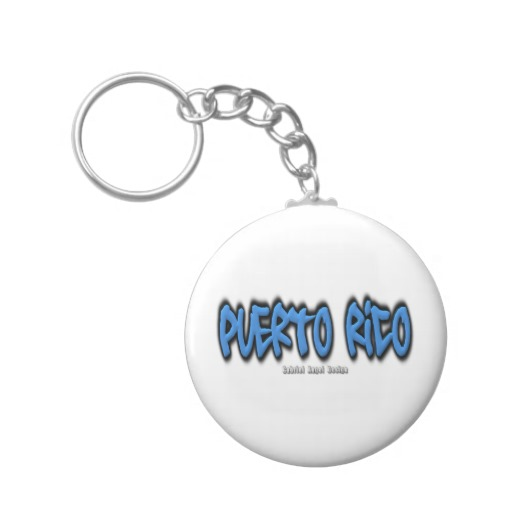 Puerto Rico Graffiti Basic Button Keychain