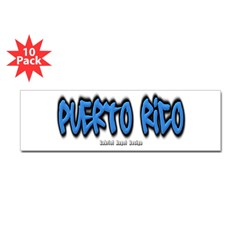 Puerto Rico Graffiti Bumper Sticker 10 Pack