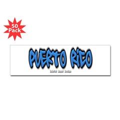 Puerto Rico Graffiti Bumper Sticker 50 Pack