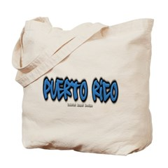 Puerto Rico Graffiti Canvas Tote Bag