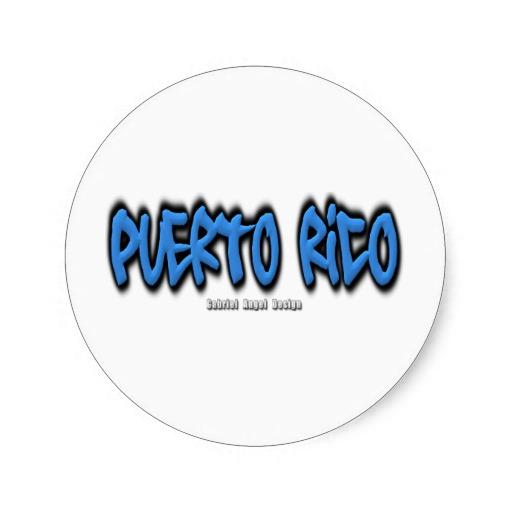 Puerto Rico Graffiti Classic Round Sticker