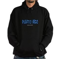 Puerto Rico Graffiti Dark Hooded Sweatshirt