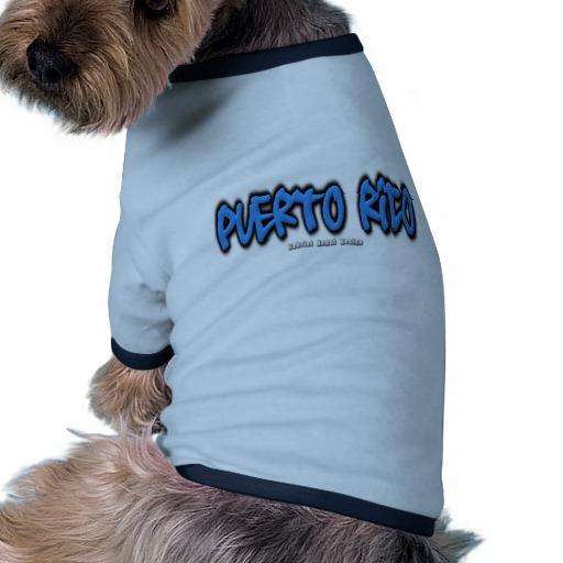 Puerto Rico Graffiti Doggie Ringer T-Shirt