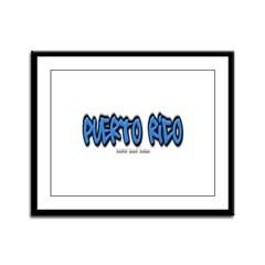 Puerto Rico Graffiti Framed Panel Print
