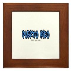 Puerto Rico Graffiti Framed Tile