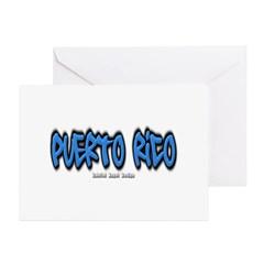 Puerto Rico Graffiti Greeting Cards (Pk of 10)