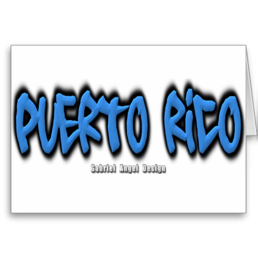 Puerto Rico Graffiti Greeting Card
