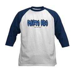 Puerto Rico Graffiti Kids Baseball Jersey T-Shirt