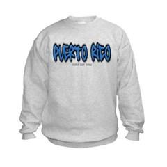 Puerto Rico Graffiti Kids Crewneck Sweatshirt by Hanes