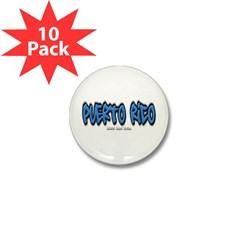 Puerto Rico Graffiti Mini Button (10 pack)