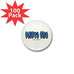 Puerto Rico Graffiti Mini Button (100 pack)