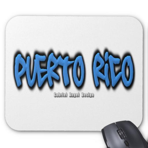 Puerto Rico Graffiti Mousepad