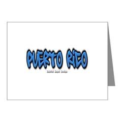 Puerto Rico Graffiti Note Cards (Pk of 20)