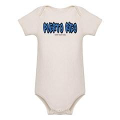 Puerto Rico Graffiti Organic Baby Bodysuit