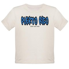 Puerto Rico Graffiti Organic Toddler T-Shirt