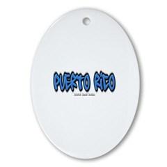 Puerto Rico Graffiti Ornament (Oval)