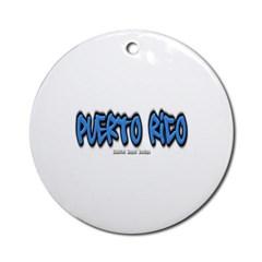 Puerto Rico Graffiti Ornament (Round)