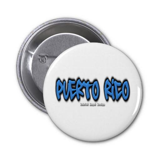 Puerto Rico Graffiti Pin