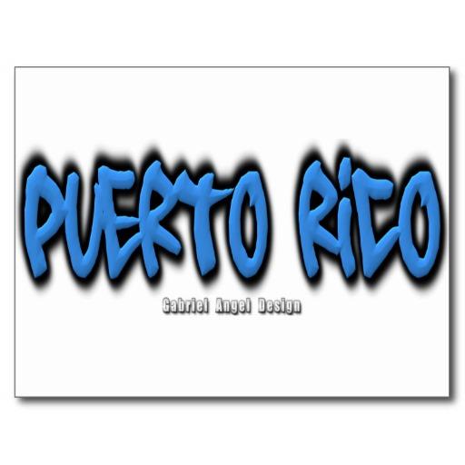 Puerto Rico Graffiti Postcard