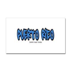 Puerto Rico Graffiti Rectangle Decal